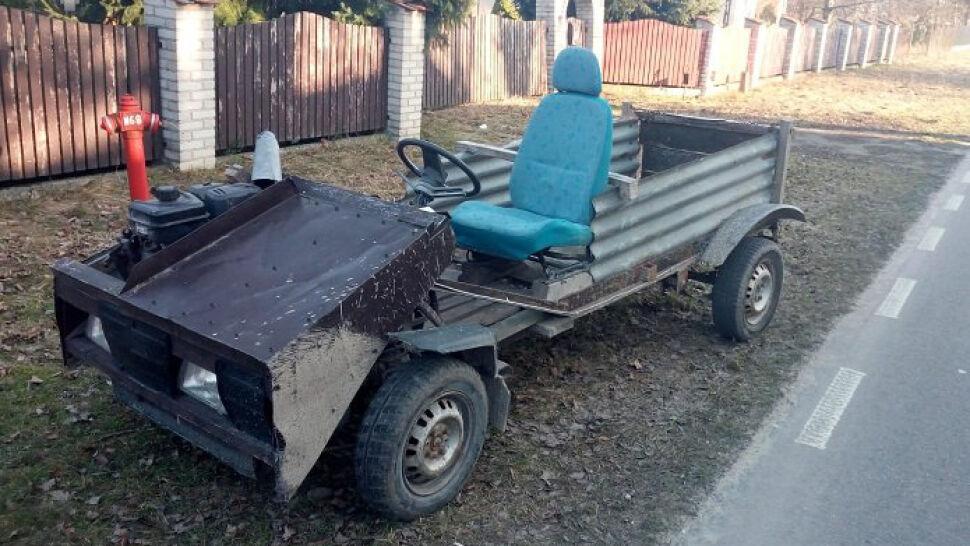 Jechałpojazdem własnej produkcji. Miał prawie trzy promile