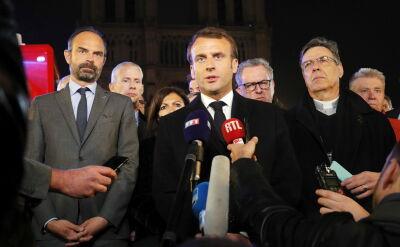 Macron: Notre Dame to katedra, która nigdy nie może zniknąć