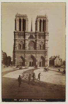 Notre-Dame odbitka na papierze albuminowym, 1885r.