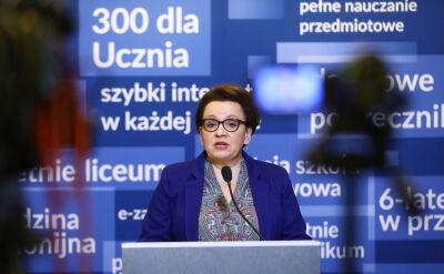 Minister edukacji podsumowuje dwa cykle egzaminów