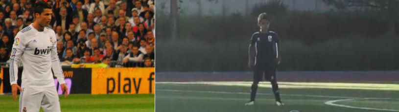 Ten rozkrok. Ronaldo Junior już strzela jak tata
