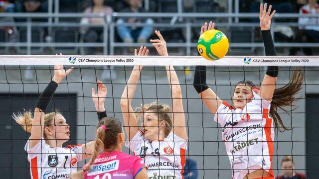 Siatkarki ŁKS przegrały z triumfatorkami Ligi Mistrzyń