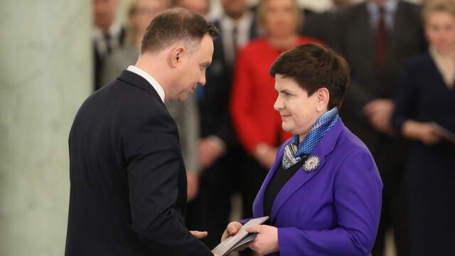 Beata Szydło powołana na urząd wiceprezesa Rady Ministrów
