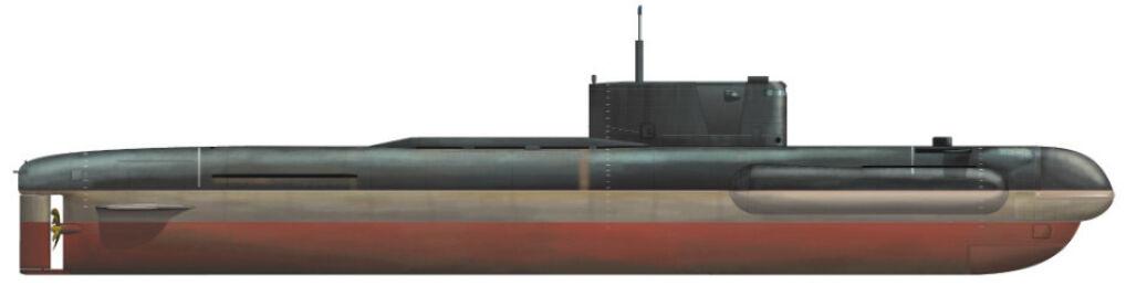Rzut boczny Sarowa powstały w oparciu o nieliczne dostępne zdjęcia. Widać wyraźnie szereg zmian względem oryginalnych Warszawianek: nadbudowany dziób, dziwne boczne dodatkowe kadłuby, powiększona nadbudówka zawierająca kapsułę ratunkową rodem z atomowych okrętów podwodnych, dodatkowy przedział za nadbudówką prawdopodobnie zawierający mały reaktor i zupełnie innarufa