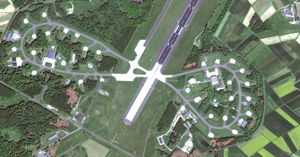 Miejsce przechowywania bomb NATO w niemieckiej bazie Buechel