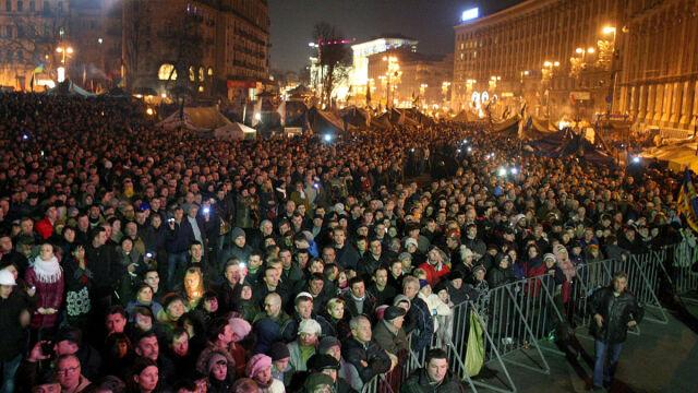 """Majdan chce """"politycznej śmierci"""" Janukowycza"""