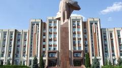 Pomnik Lenina przed siedzibą rządu i Rady Najwyższej separatystycznej republiki