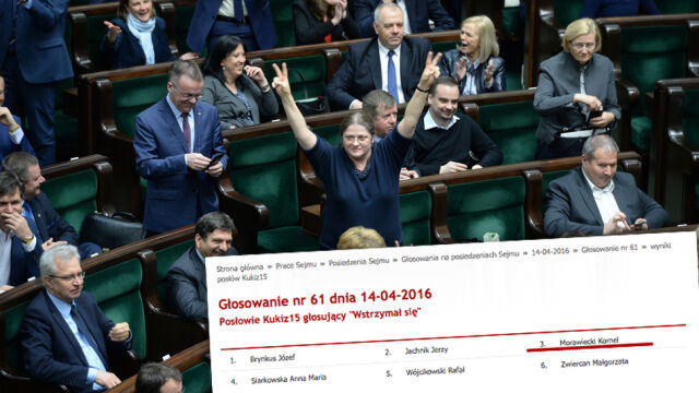 """Posłanka Kukiz'15 dla """"Faktów"""" TVN: zagłosowałam za Kornela Morawieckiego"""