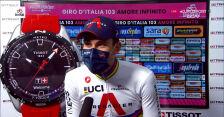 Ganna po wygraniu 14. etapu Giro d'Italia
