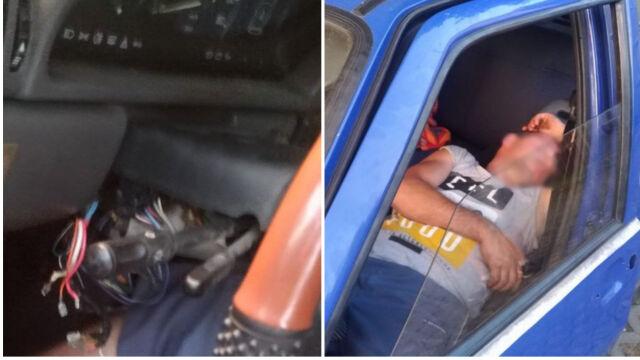 Ukradł auto i zasnął. Obudzili go policjanci