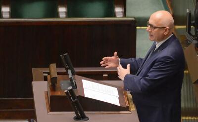 Brudziński w Sejmie o działaniach policji po zabójstwie prezydenta Gdańska