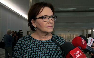Ewa Kopacz o deklaracji szefa MSWiA