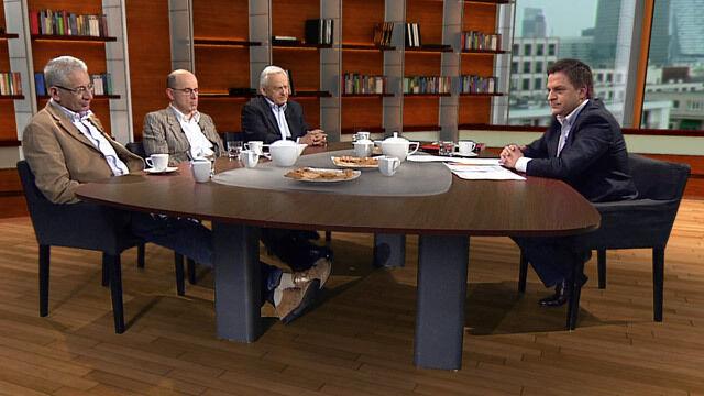 """Ludwik Dorn, Marek Borowski i Leszek Miller w """"Kawie na ławę"""""""