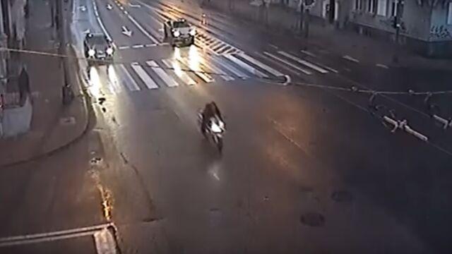 Pędził motocyklem 178 km/h, nie miał prawa jazdy