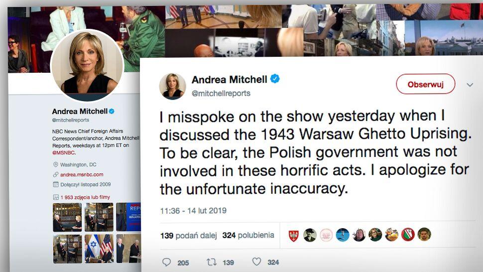 """Amerykańska dziennikarka przeprasza za """"niefortunną nieścisłość"""""""