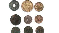Monety znalezione podczas eksploracji na Zamku, w tym tak egzotyczne jak tunezyjskie czy chińskie