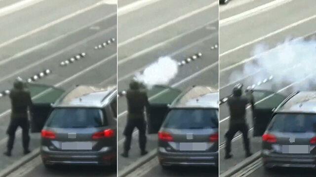 Niemieckie media pokazują domniemanego strzelca z Halle
