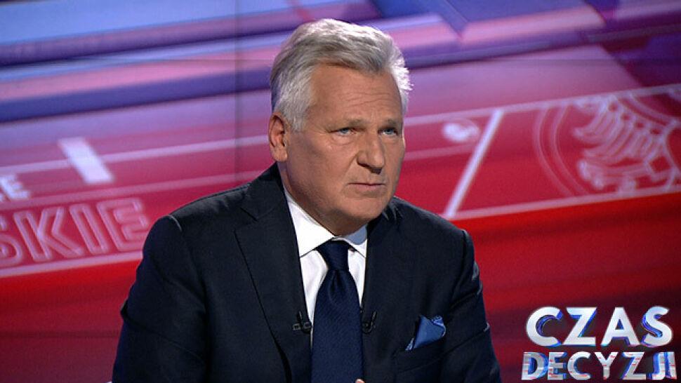 Były prezydent Aleksander Kwaśniewski komentował w TVN24 sondażowe wyniki exit poll