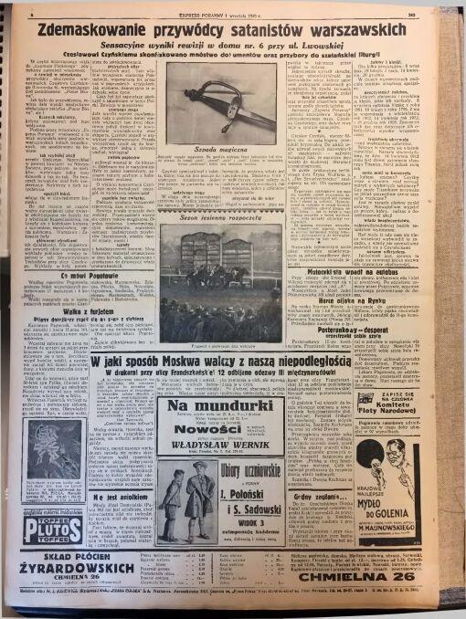 """""""Express Poranny"""" z 1 września 1930 r."""