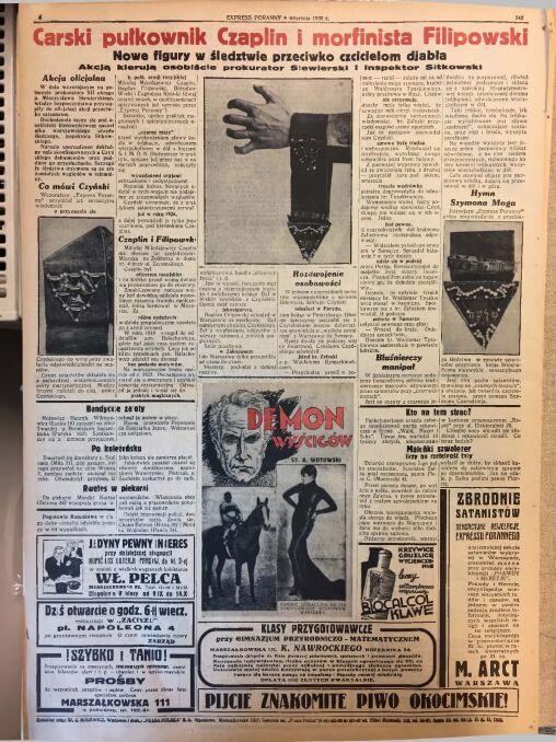 """""""Express Poranny"""" z 4 września 1930 r."""