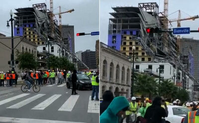 Konstrukcja hotelu runęła w Nowym Orleanie