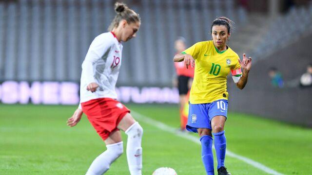 W Kielcach wystąpiła legendarna piłkarka. Polki gorsze od Brazylijek