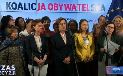 Kidawa-Błońska na konferencji prasowej o żłobkach