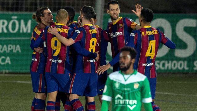 Dwa zmarnowane karne Barcelony. Wymęczyła awans z trzecioligowcem