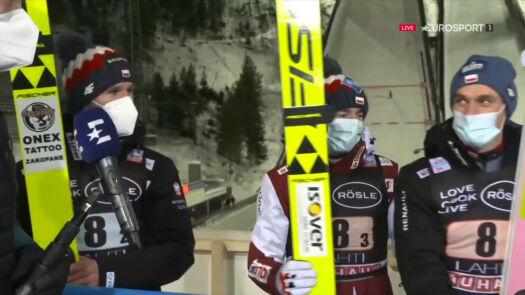 Reprezentanci Polski po konkursie drużynowym w Lahti