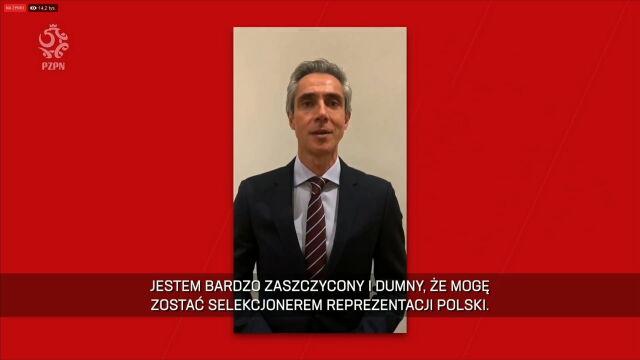"""Paulo Sousa przywitał się z kibicami. """"Polska będzie dumna ze swojej drużyny"""""""