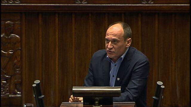 Kukiz: podpisuję się się pod pierwszą częścią wystąpienia pani premier