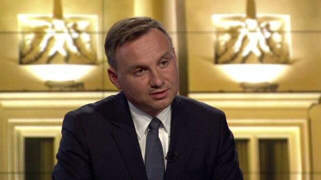 """Andrzej Duda w """"Faktach po Faktach"""" w TVN24"""