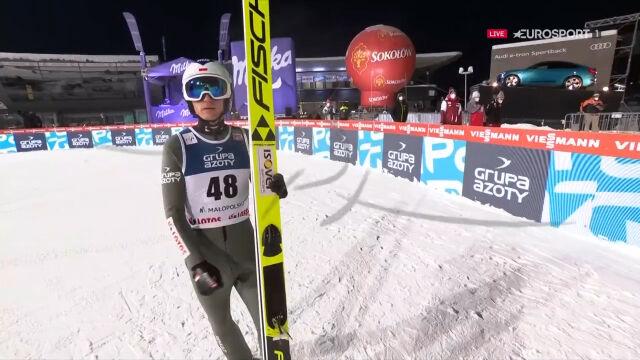 Skok Kamila Stocha z 1. serii konkursu w Zakopanem