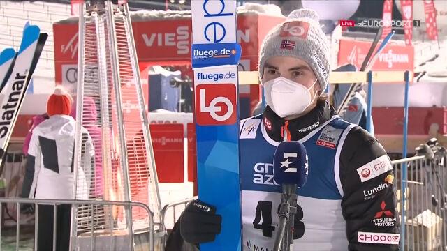 Lindvik po wygraniu konkursu w Zakopanem