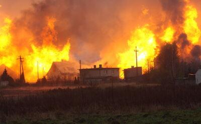 Świadek: Widzieliśmy potężny pożar, sięgający 40 metrów w górę