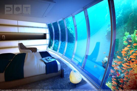 W podwodnym dysku znajdować się będzie około 20 pokoi hotelowych