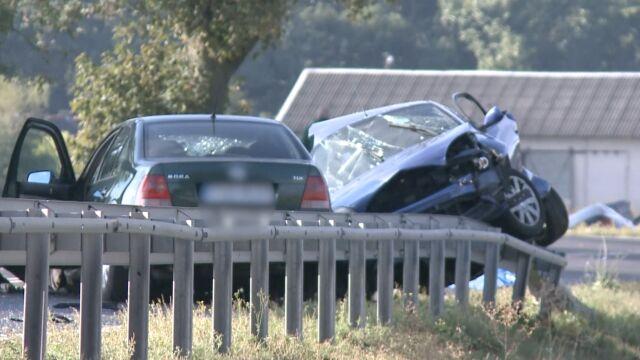 Trzy auta zderzyły się na krajowej