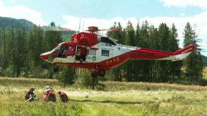 Kolejna grupa ratowników w akcji.