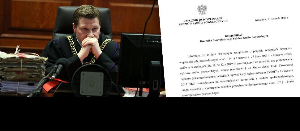 Rzecznik dyscyplinarny sprawdza aktywność  sędziów w mediach społecznościowych