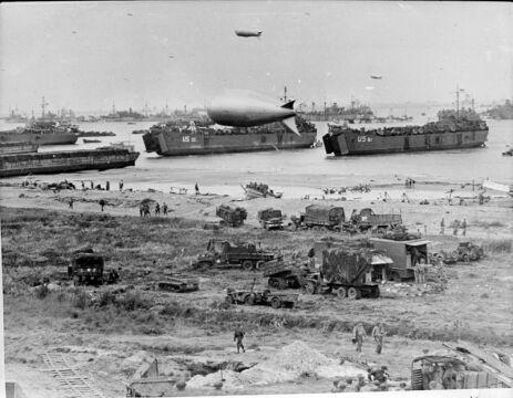 Plaża Omaha już po lądowaniu