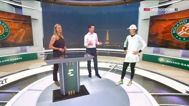 Świątek w studiu Eurosport Cube po awansie do półfinału Roland Garros