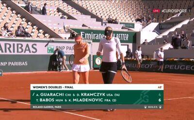 Babos i Mladenovic wygrały 1. set w finale gry podwójnej kobiet w Roland Garros