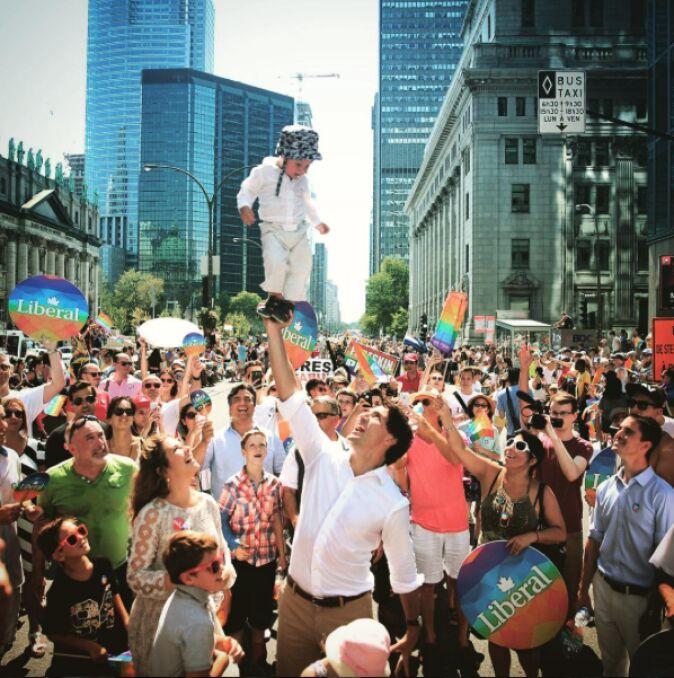Wiec liberałów w Montrealu