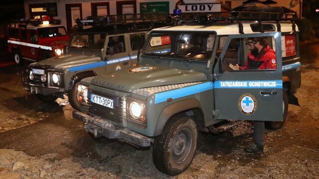 Całą noc trwała ewakuacja turystów z Kasprowego Wierchu
