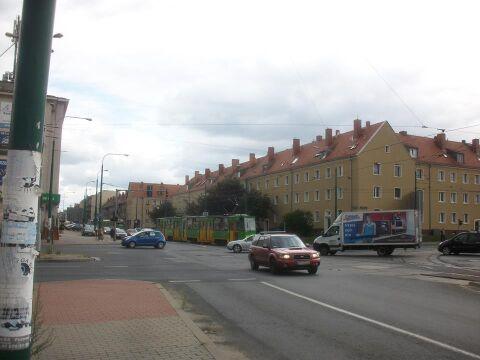 Jedno z poznańskich skrzyżowań