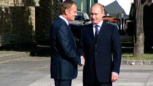 Tusk wita Putina (TVN24)