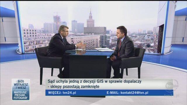 Minister odniósł się do orzeczenia sądu (TVN24)