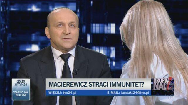 Zdaniem byłego premiera Macierewicz powinien sam zrzec się immunitetu (TVN24)