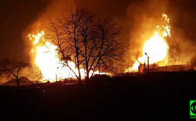 """""""Coś potężnie huknęło"""", """"pożar widać z wielu kilometrów"""". Eksplozja gazociągu pod Poznaniem"""