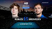 Skrót meczu Rublow - Miedwiediew w ćwierćfinale Australian Open
